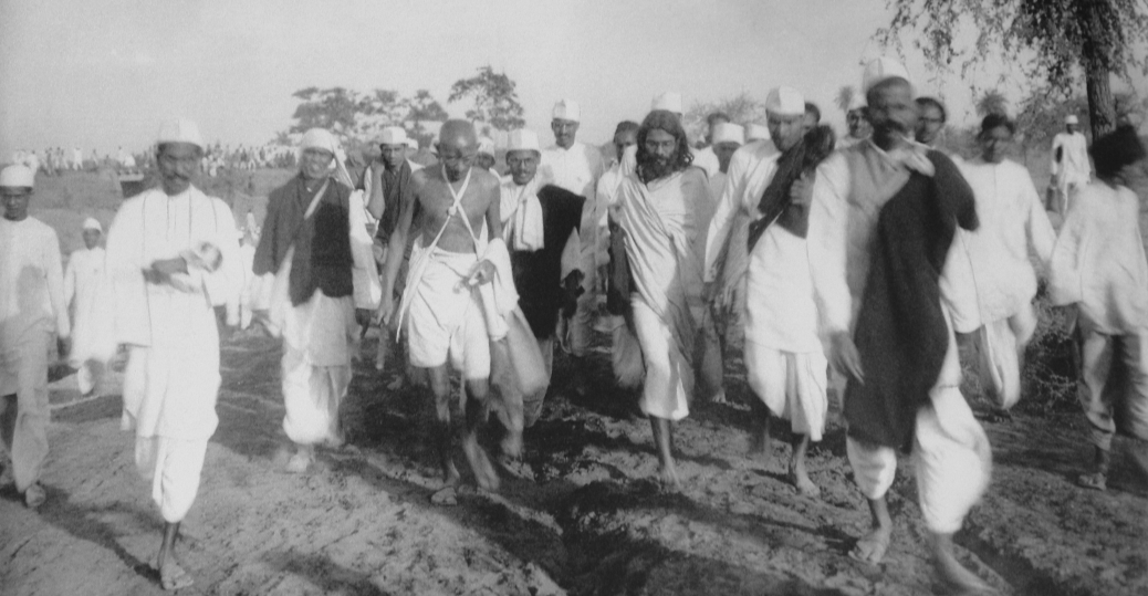 Gandhi at the famous Salt March of April and May 1930.